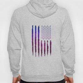 Gradient grunge American flag Black ink Hoody