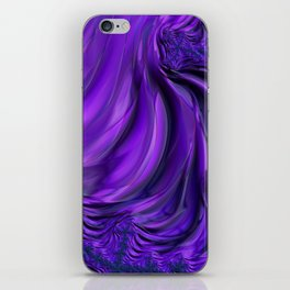 Purple Drapes iPhone Skin