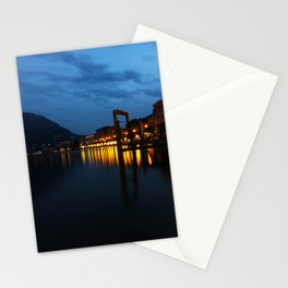 Lugano by night Stationery Cards
