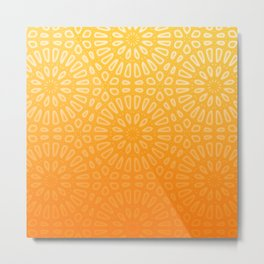 Orange & Yellow Islamic Geometrical Pattern Metal Print