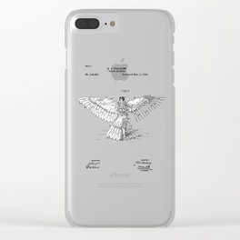 patent art Spalding Flying Machine  1889 Clear iPhone Case