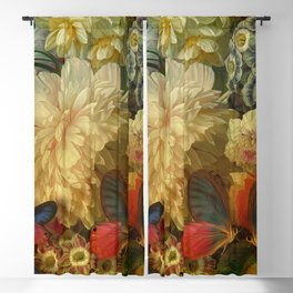 """Baroque Spring of Flowers and Butterflies"" Blackout Curtain"