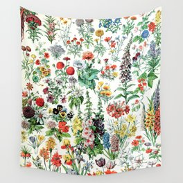 Adolphe Millot - Fleurs A - French vintage poster Wall Tapestry