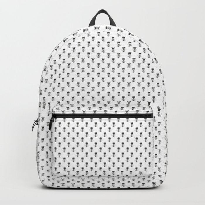Queen Bee | Black and White Rucksack