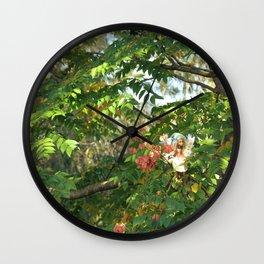 FAIRY Autumn Walk  Wall Clock