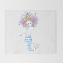 Coral the Mermaid Throw Blanket