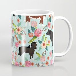Farm animal sanctuary pig chicken cows horses sheep floral pattern gifts Coffee Mug