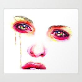 The Girl with Kaleidoscope Eyes Art Print
