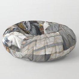 James Tissot - The Widow's Mite Floor Pillow