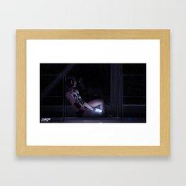 88 black Framed Art Print