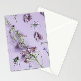 Light Purple Flowers Stationery Cards