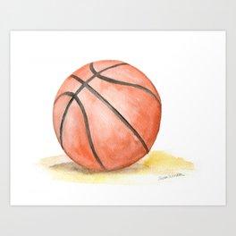 Basketball Watercolor Art Print