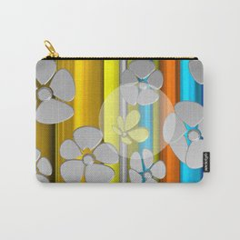 WHITE FLOWER IN POMP Carry-All Pouch
