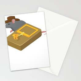Indiana mouse cheese mousetrap movie quote gift Stationery Cards