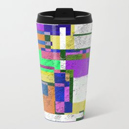 Pastel Geometry Travel Mug