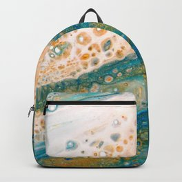 Panning for Gold - Abstract Acrylic Art by Fluid Nature Backpack