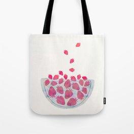 Magic Strawberries in the Bowl Tote Bag