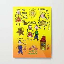 Children Collage Metal Print