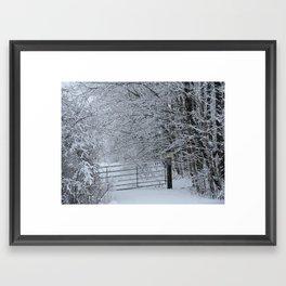 Winter gate Framed Art Print