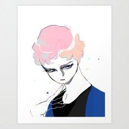 Glass Eyed Boy Art Print