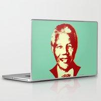 mandela Laptop & iPad Skins featuring NELSON MANDELA by mark ashkenazi