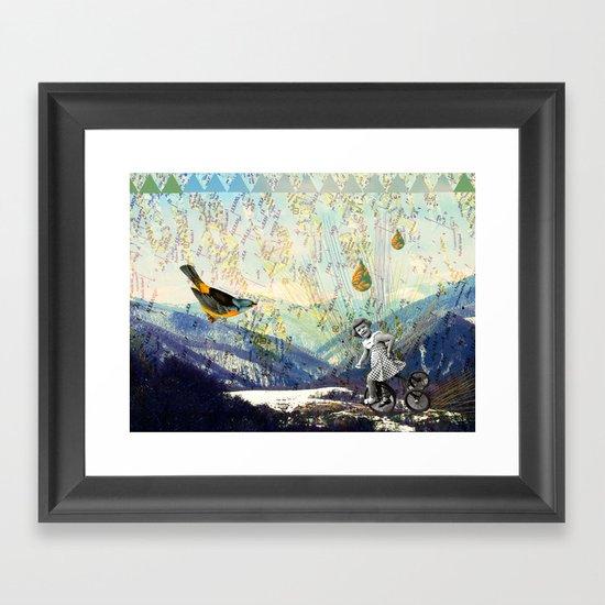 the early girl gets the bird Framed Art Print