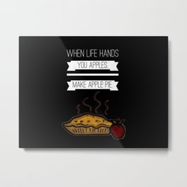 Apples Are Life Metal Print