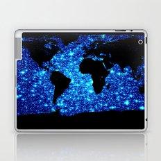 world MAP Turquoise Galaxy Stars Laptop & iPad Skin