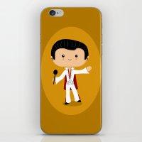 elvis presley iPhone & iPod Skins featuring Elvis Presley by Sombras Blancas Art & Design
