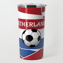 Netherlands Flag Football Travel Mug