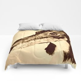 Quirky whimsical greyhound/ lurcher dog 2 Comforters