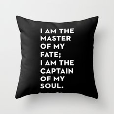 Invictus (Black) Throw Pillow