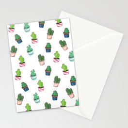 Cacti Abound Watercolor Graphic Print Stationery Cards