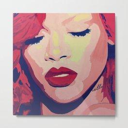 Rihanna Painting Metal Print