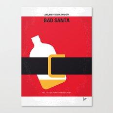 No702 My Bad Santa minimal movie poster Canvas Print