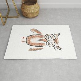 ricky the angry owl Rug