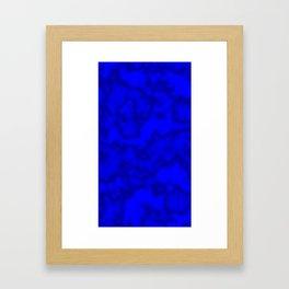Intense Blue Smoke Framed Art Print