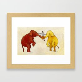 My Elephants Framed Art Print