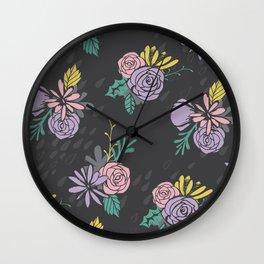 Flora Over Fauna Wall Clock
