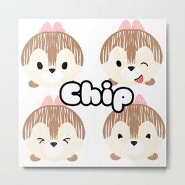 Chip Tsum Tsum Metal Print