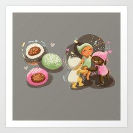 Mochi Babies Art Print