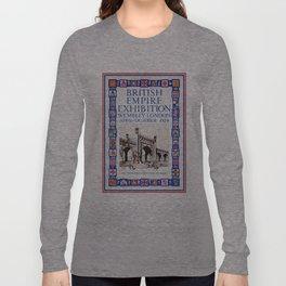 1924 British Empire Exhibition Wembley London Long Sleeve T-shirt