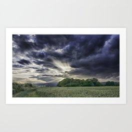 Angel Rays Art Print