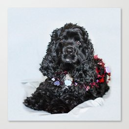 Valentine Puppy Photography Print Canvas Print