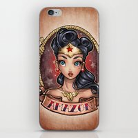 pinup iPhone & iPod Skins featuring Amazon Pinup by Tim Shumate