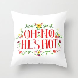 Oh No Throw Pillow