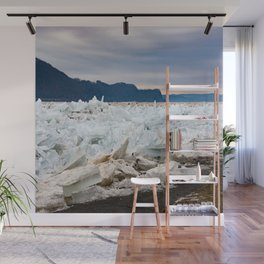 Blue Ice Wall Mural