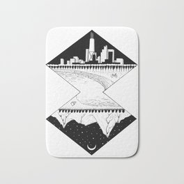 City by the Mountains Bath Mat