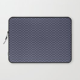 Butterfly Illustration // Geometric Butterfly Pattern // Dark Navy Blue and White Laptop Sleeve