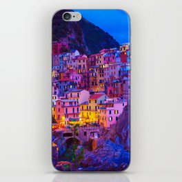 Manarola Cinque Terre Italy at Night iPhone Skin